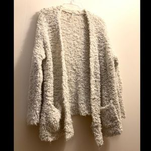 Free People fluffy white marshmallow cardigan RARE